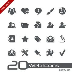 Blog internet basics series vector