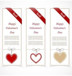 Paper banners for valentines day vector