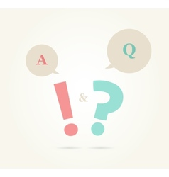 Speech bubbles with question and answer vector