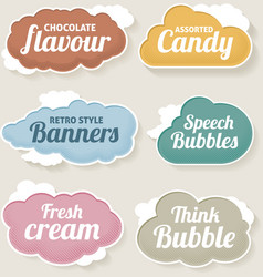 Cloud speech and thought bubbles vector