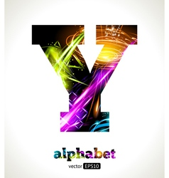 Design abstract letter y vector