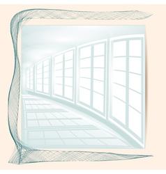 Abstract white corridor vector