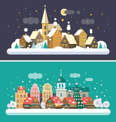 Christmas landscapes vector
