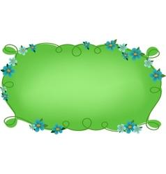 Floral frame or vignette vector
