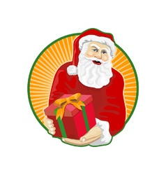 Santa claus father christmas retro vector