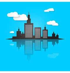 City scape on blue background vector