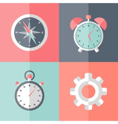 Business speed flat icons vector