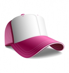 Pink cap vector