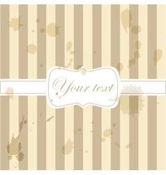 Cute aged retro vintage card invitation vector