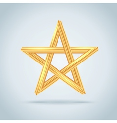 Gold inconceivable pentagram vector