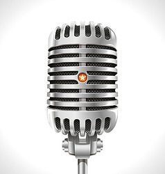 Old microphone vector