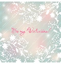 Light pastel floral background valentines design vector