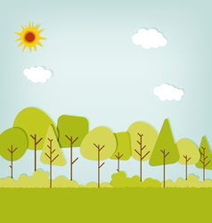 Cute forest vector
