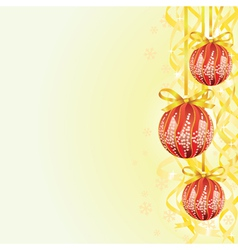Bulb and ribbon christmas background vector