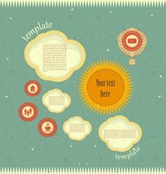 Vintage web design vector