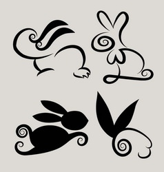 Rabbit symbols 2 vector