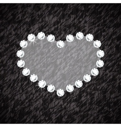 Heart symbol of brilliant diamonds vector