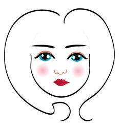 Woman face drawing 5 vector