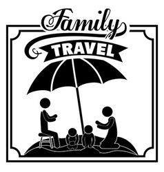 Family travel design vector