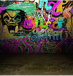 Graffiti wall art background vector