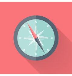 Compass flat icon pink and blue vector