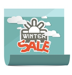 Winter sale on paper sheet isolated on white vector