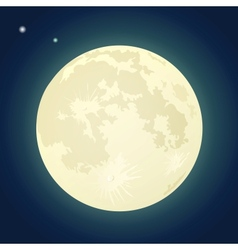 Full moon on a dark blue sky vector