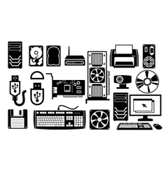 Computer hardware icon vector