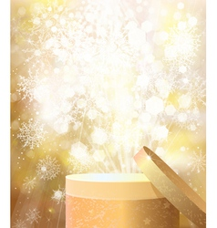 Gold gift vector