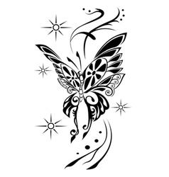 Butterfly tattoov vector