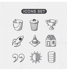 Miscellaneous symbols set vector
