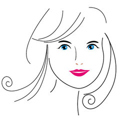 Woman face drawing 6 vector