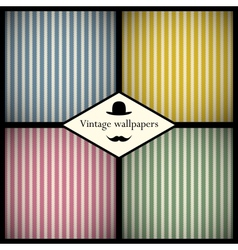 Set of vintage striped patterns vector