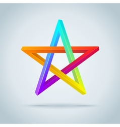 Colorful inconceivable pentagram vector