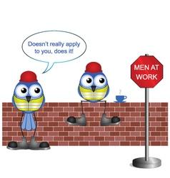 Workers men at work vector
