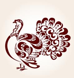 Decorative turkey vector