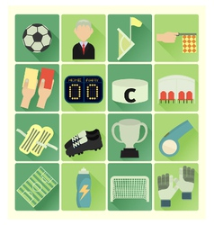 Flat icons soccer vector