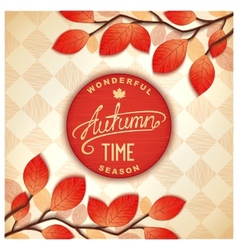 Colorful autumn signboard vector