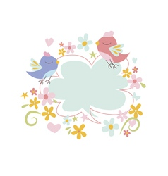 Spring design with birds vector