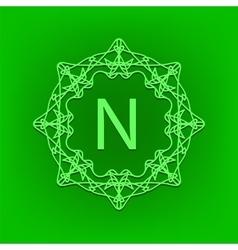 Simple monogram n vector