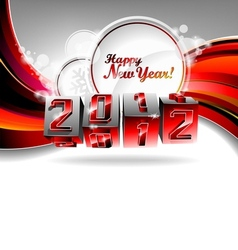 Happy new year 2012 design with swirl cubes vector