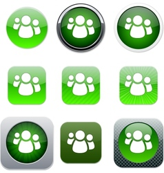 Forum green app icons vector