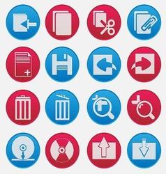 Pc icon gradient style vector