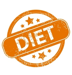 Diet grunge icon vector