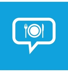 Dinner message icon vector