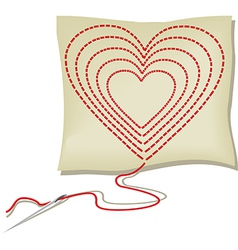 Handcraft heart vector