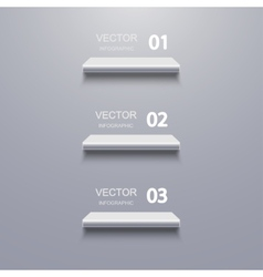 Modern shelf infographic background vector