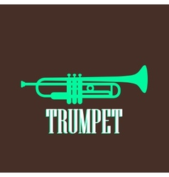 Vintage with trumpet vector