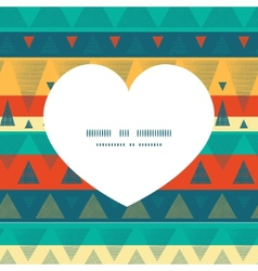 Vibrant ikat stripes heart silhouette vector