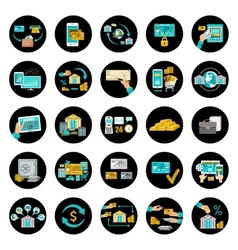 Set banking icons vector